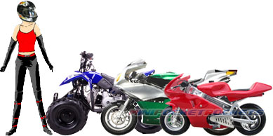 pocket bike sizes