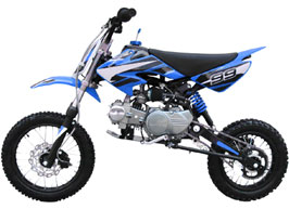 blue 4-stroke dirt bike
