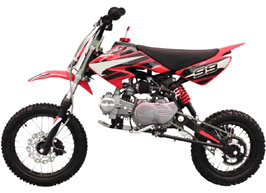 red 4-stroke dirt bike