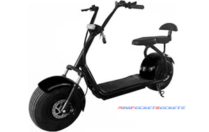 electric mini bike black