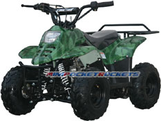 mini atv camouflage green