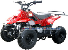 mini atv spider red