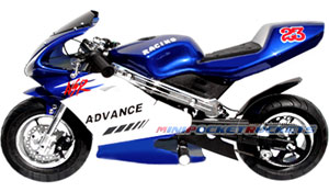 mini bike blue