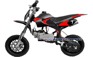 mini dirt bike black