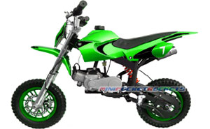 mini dirt bike green