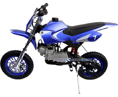 mini dirt bike left side