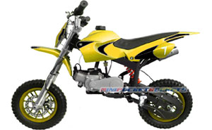mini dirt bike yellow