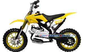mini dirt bikes yellow