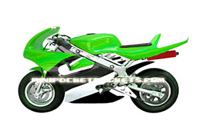 pocket bike green