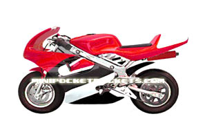 pocket bike in red and white featuring the gp mx3 at minipocketrockets. Black Bedroom Furniture Sets. Home Design Ideas
