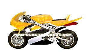 pocket bike yellow
