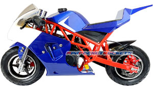 blue pocket bike