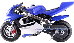 pocket bike blue