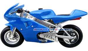 mini bike in blue