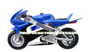 mini bike in blue and white